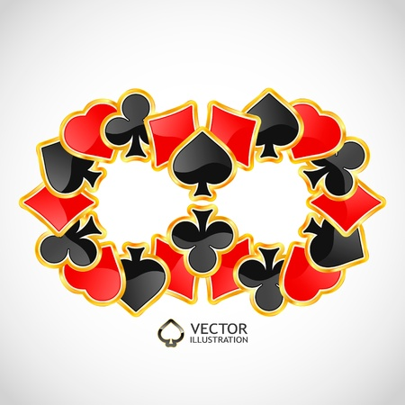 jack of hearts: Gambling composition. Abstract background.