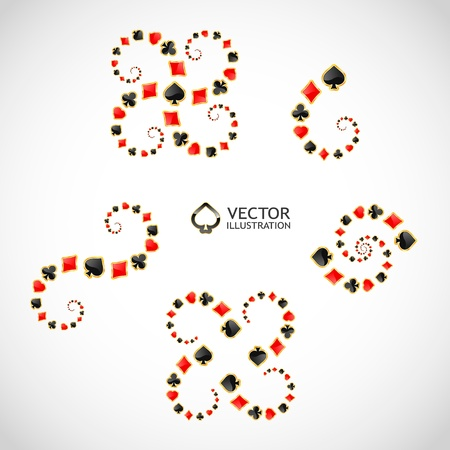 wager: Vector gambling composition. Abstract background.
