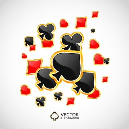 Vector gambling composition. Abstract background.   Stock Vector - 11304269