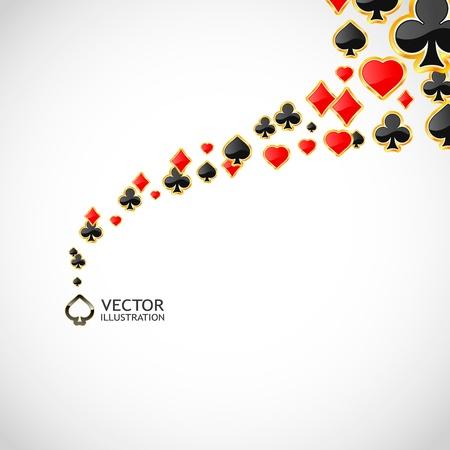 cartas de poker: Vector de composición de los juegos de azar. Resumen de antecedentes.