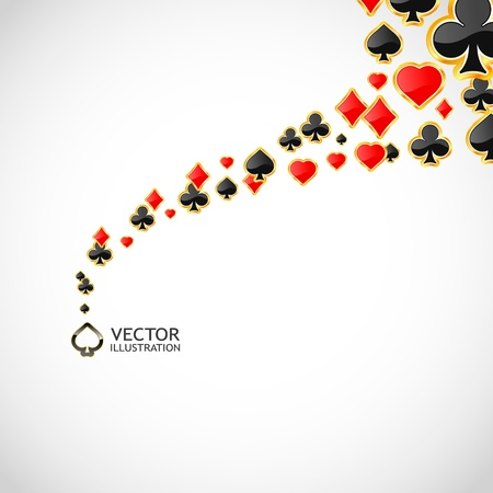 deck of cards: Vector gambling composition. Abstract background.