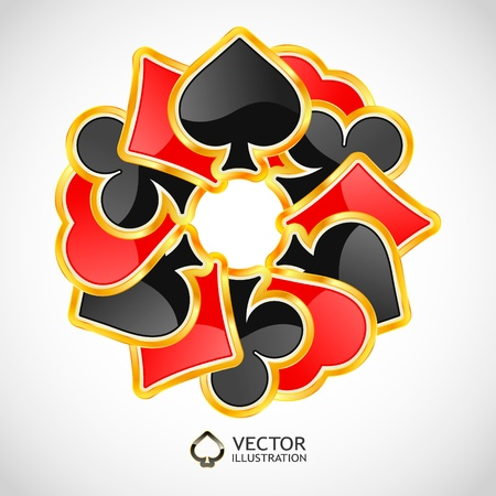joker card: Vector gambling composition. Abstract background.