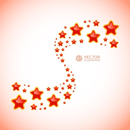 star shape: Abstract background with stars. illustration.
