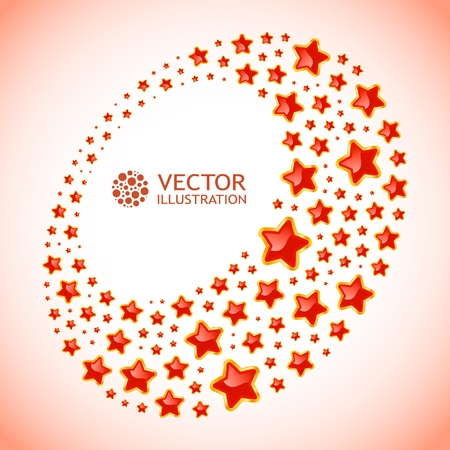 Abstract background with stars. illustration.   Vector