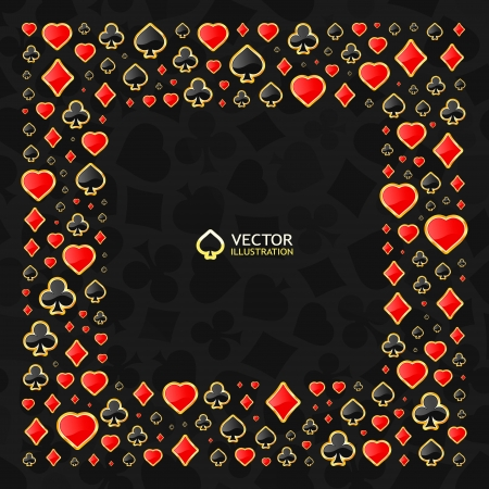 Gambling composition  Abstract frame  Vector