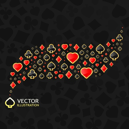 Vector gambling composition. Abstract background.   Vector