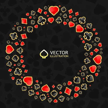 jack of diamonds: Vector gambling composition. Abstract background.