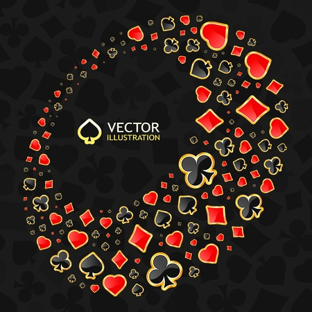 Vector gambling composition. Abstract background.   Stock Vector - 11304296
