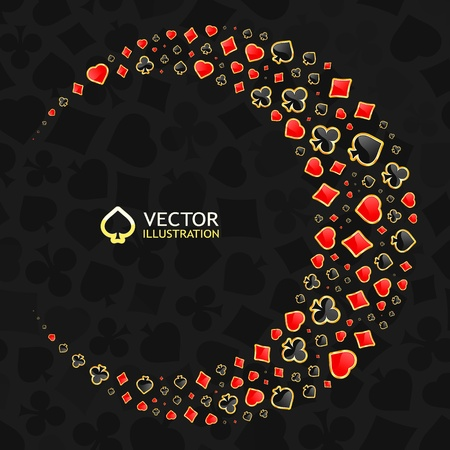 Vector gambling composition. Abstract background.   Stock Vector - 11885906