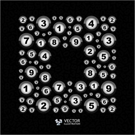 Numbers. Abstract illustration. Vector