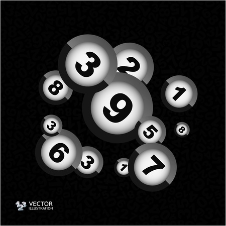 numerical: Numbers. Abstract illustration. Illustration