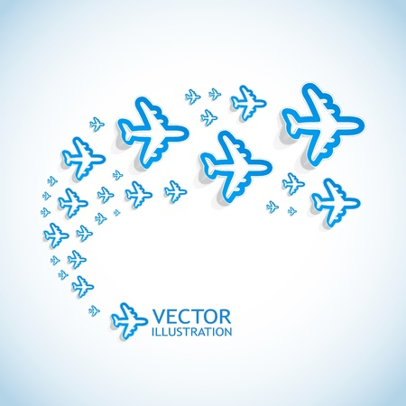 air cargo: Abstract background with airplanes