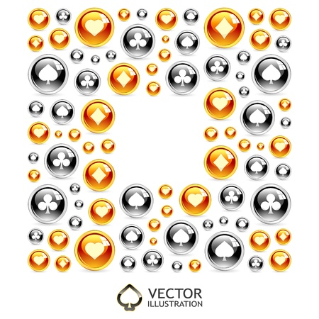 Vector gambling composition  Abstract background Stock Vector - 16458061