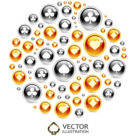 gambling composition  Abstract illustration  Stock Vector - 16512273