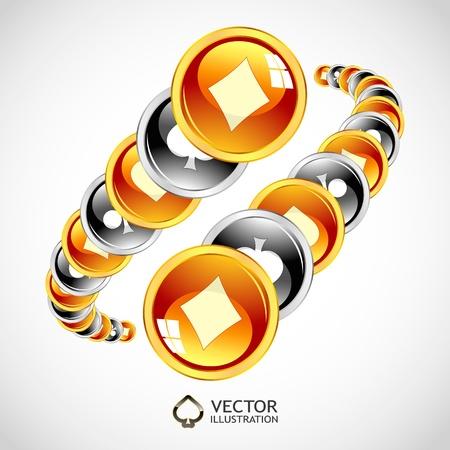 Vector gambling composition. Abstract illustration. Stock Vector - 11888245