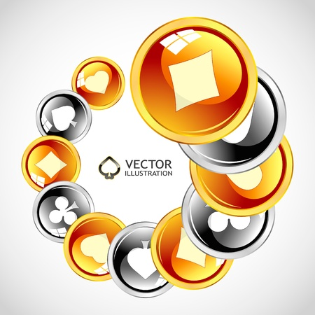 gambling composition. Abstract background.   Stock Vector - 11254448