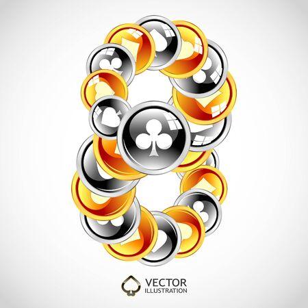 Vector gambling composition. Abstract illustration. Stock Vector - 11888241