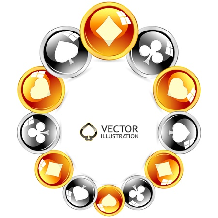 Gambling composition  Abstract frame  Stock Vector - 15245477