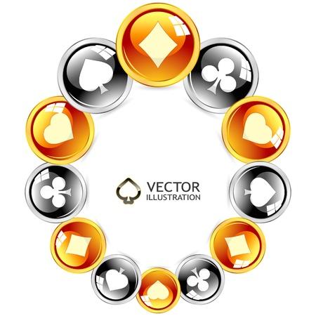joker naipe: Gambling marco Composici�n abstracta Vectores