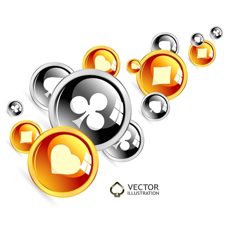 suite: Vector gambling composition  Abstract background