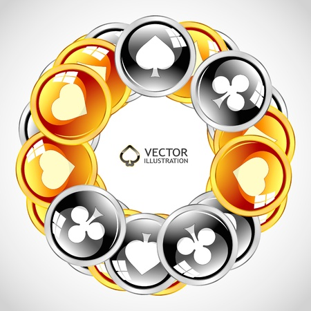 full frame: Vector gambling composition. Abstract illustration.