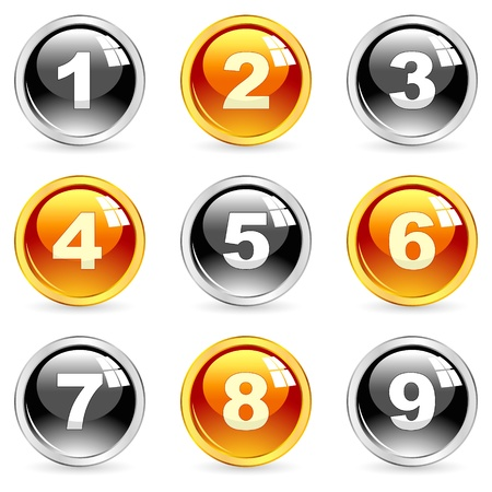 Number icons. set.    Stock Vector - 11254443