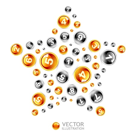 Illustration of numbers Stock Vector - 16512228