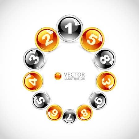 Numbers. Abstract background.   Vector