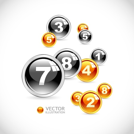 digit 3: Numbers. Abstract background.