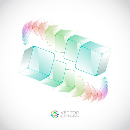 Abstract background with colorful boxes   Vector