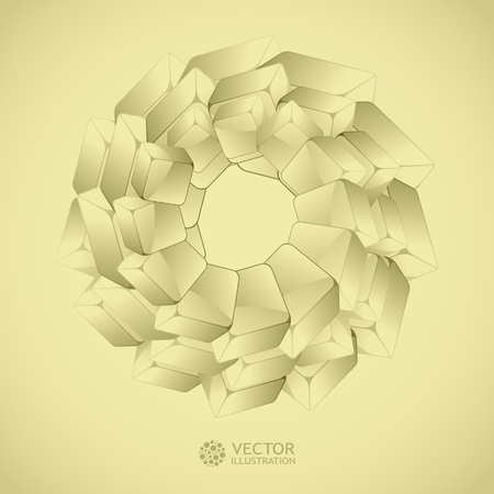 Abstract crystals background.   Stock Vector - 11269152