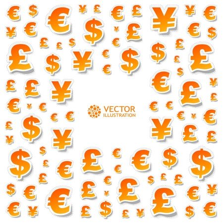 currency symbol: Abstract background Illustration