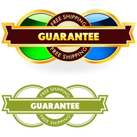 procent: Guarantee label Illustration