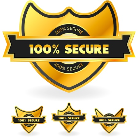 100  SECURE Stock Vector - 15178053