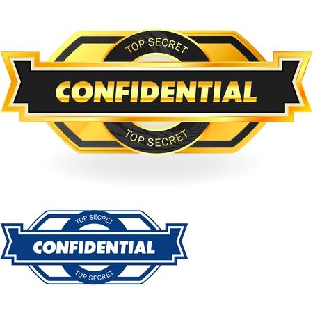 Confidential   illustration Stock Vector - 17417778