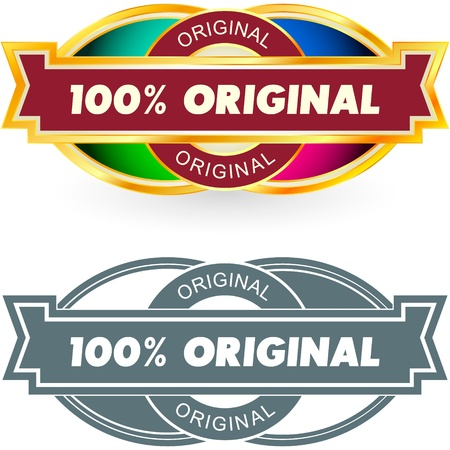 100% ORIGINAL. Vector label. Vector
