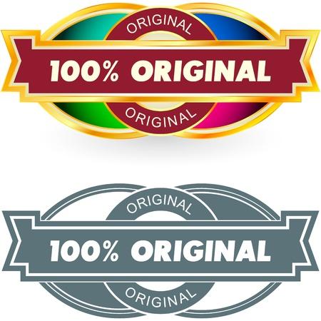 guaranree: 100% ORIGINAL. Vector label.