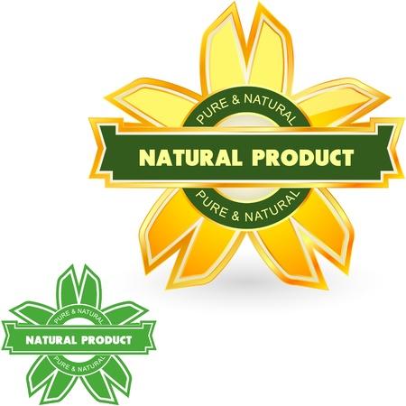 ornamente: Natural product. Vector label.