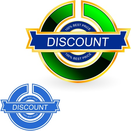 bargain: Discount label    Illustration