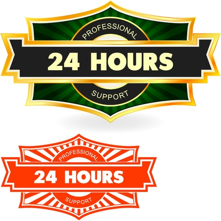 twenty four hours: 24 hours icon   Illustration
