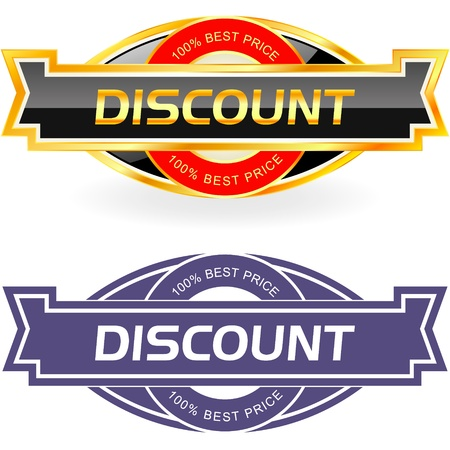 cost reduction: Discount label    Illustration