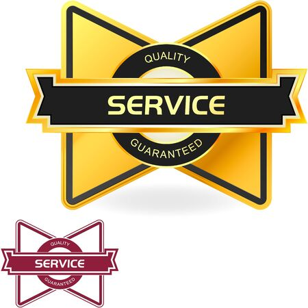 choices: SERVICE. Vector label for sale.