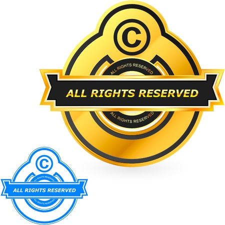 exclusive icon: COPYRIGHT. Vector illustration.   Illustration
