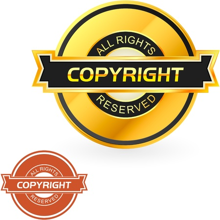 procent: COPYRIGHT. Vector illustration.   Illustration