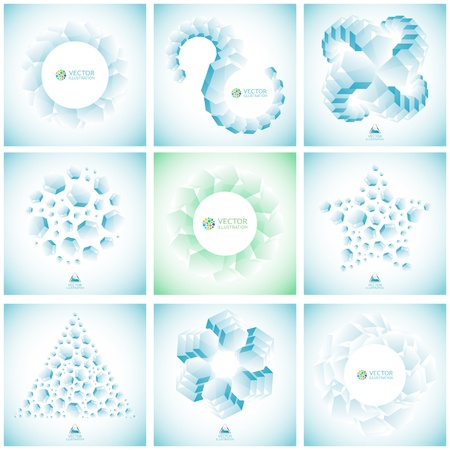 original sparkle: Abstract hexagon background  Illustration
