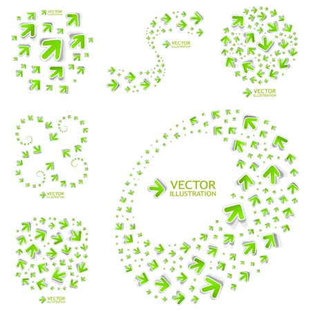 Arrows  Abstract illustration Stock Vector - 16512289