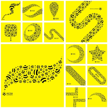 ellipses: Abstract background with circle elements.   Illustration