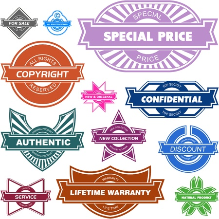 Set of design elements for sale. GREAT COLLECTION. Stock Vector - 11888277