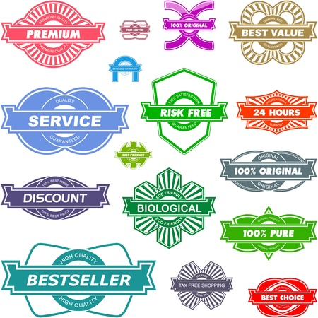 Vector great collection of sale signs Stock Vector - 11304321