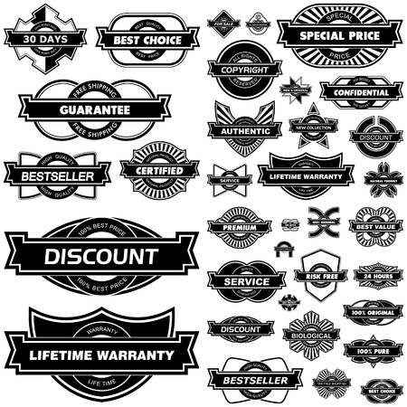 Set of design elements for sale.   Vector